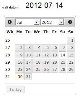 KalenderjQuery