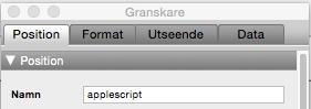 ObjektnamnAppleScript