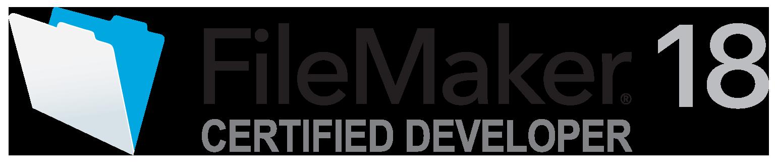 FileMaker 18 certified